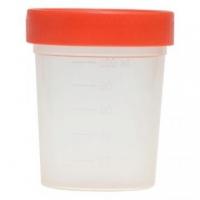 Емкость контейнер д/сбора биоматериалов стерильный с крышкой 100  мл.