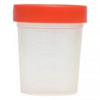 Емкость контейнер д/сбора биоматериалов с крышкой н/с 100  мл.