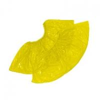Бахилы цветные Желтые полиэтиленовые   пара текстурированные  1,8 гр