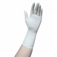 Перчатки НЕстерильные хирургические опудренные латексные без разделения на левую и правую руку , длина 280-300 мм , с валиком  AQL 1,