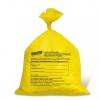 Мешок д/сбора мед. отходов 50х60 класс Б желтый с зажимом и печатью